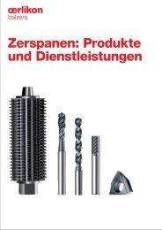 Zerspanen: Produkte und Dienstleistungen