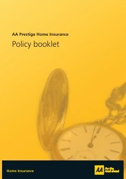 AA Prestige Home Insurance Policy Booklet