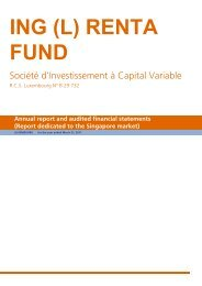 ING (L) RENTA FUND - ING Investment Management, Asia Pacific
