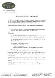 Rental Application Form - Albany Prestige Realty