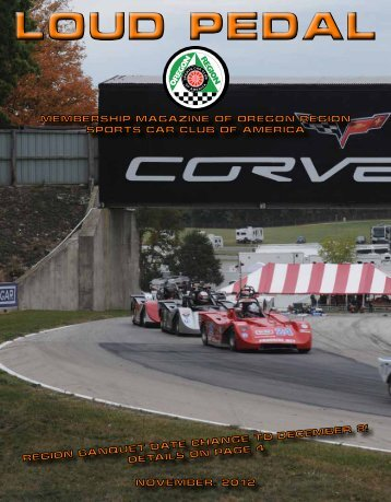 NOVember, 2012 - Oregon Region SCCA