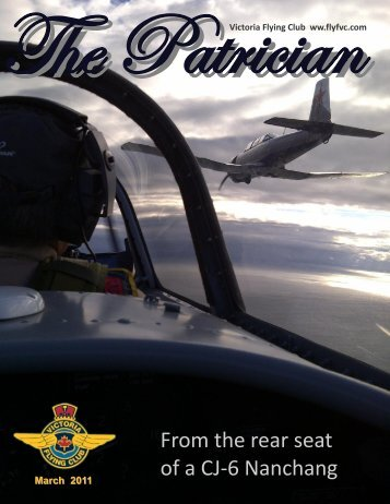 From the rear seat of a CJ-6 Nanchang - Victoria Flying Club