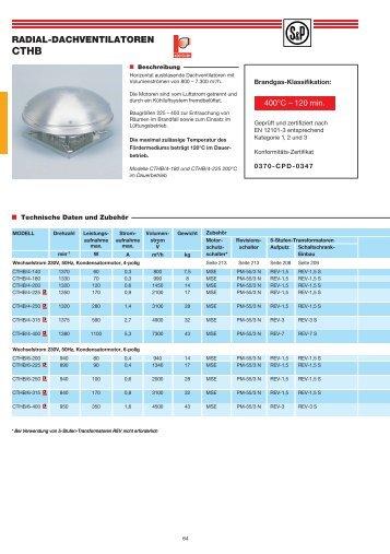 AXIAL-DACHVENTILATOREN HCTB - HCTT - Soler & Palau
