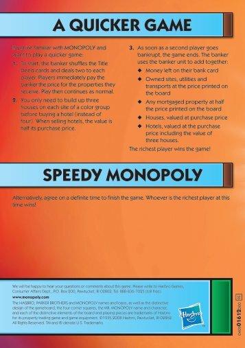 Monopoly Spongebob Instructions Hasbro