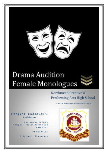 Drama Audition Female Monologues - Northmead Creative and ...