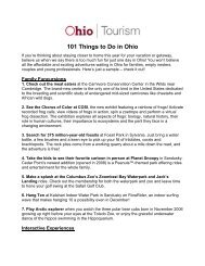 101 Things to Do in Ohio