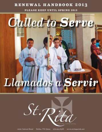 2012 Stewardship Handbook - St. Rita Catholic Church