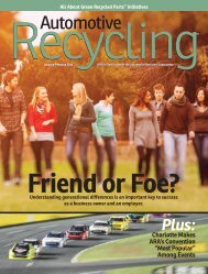 the auto recycling - Automotive Recyclers Association ARA