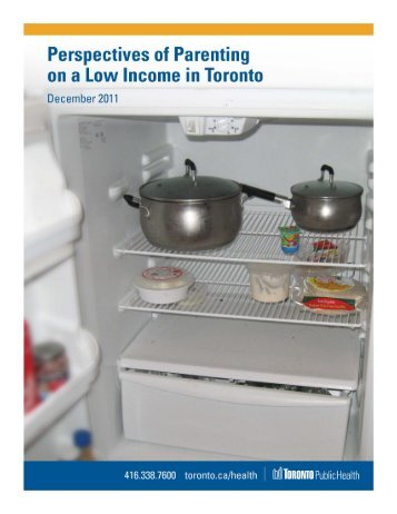Perspectives of Parenting on a Low Income in - City of Toronto