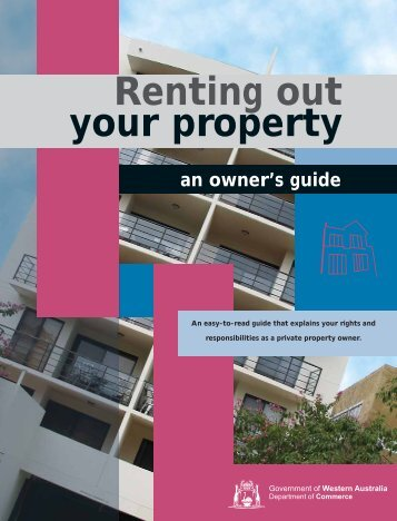 your property Renting out - Department of Commerce