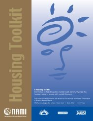 A Housing Toolkit: Information to help the public mental ... - NAMI