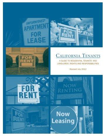 California Tenants - Department of Consumer Affairs - State of ...