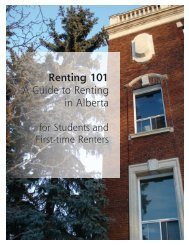 Renting 101 A Guide to Renting in Alberta - Legal Resource Centre