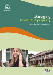 Managing residential property - Department of Commerce