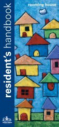 Rooming House Residents' Handbook - Tenants Union of Victoria