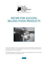Selling Food Products - New York State Small Business ...