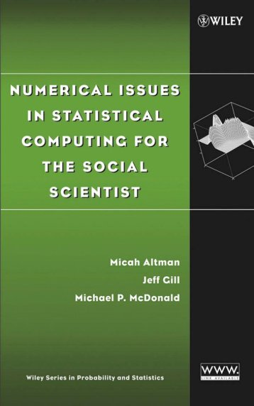 Numerical Issues in Statistical Computing for the Social Scientist