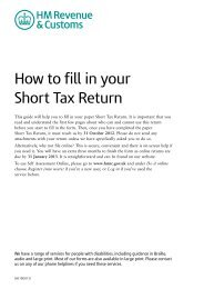 How to fill in your Short Tax Return (2012) - HM Revenue & Customs