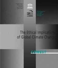 The Ethical implications of global climate change - unesdoc - Unesco