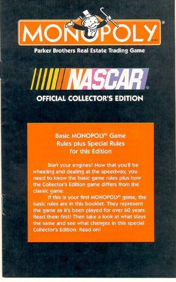 Monopoly Nascar Instructions - Etailgifts.com