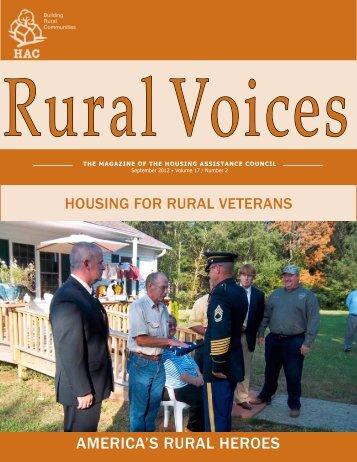 Download a pdf version of Rural Voices - Housing Assistance Council