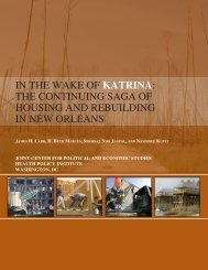 in the wake of katrina - Joint Center for Political and Economic Studies