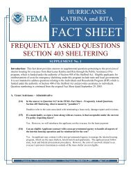 FACT SHEET - Missouri State Emergency Management Agency