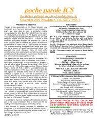 poche parole ICS - the Italian Cultural Society of Washington, DC!