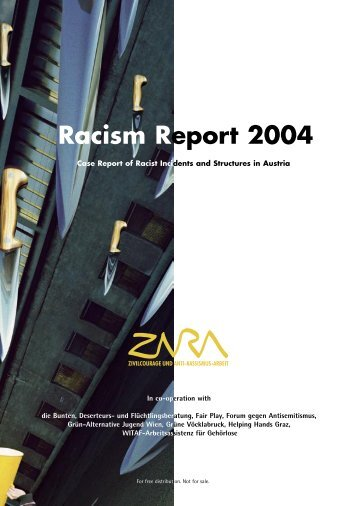 """Racism Report 2004"" is available for free - Zara"