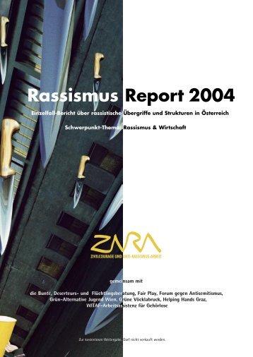 Rassismus Report 2004 - Zara