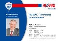 RE/MAX – Ihr Partner für Immobilien