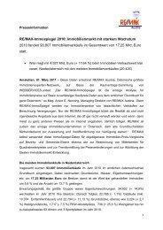 RE/MAX-Immospiegel 2010: Immobilienmarkt mit starkem ...