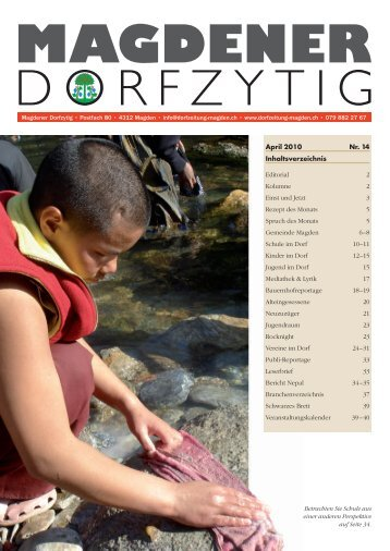 Ausgabe 2/2010 - Magdener Dorfzytig