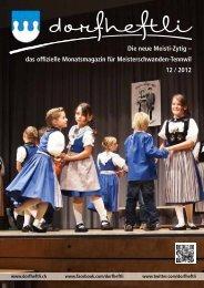 das offizielle Monatsmagazin für Meisterschwanden-Tennwil 12 / 2012
