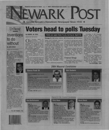 ·voters head to polls Tuesday - University of Delaware Library ...