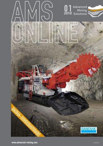 Anlässlich der bevorstehenden BAUMA 2010 im - Advanced Mining