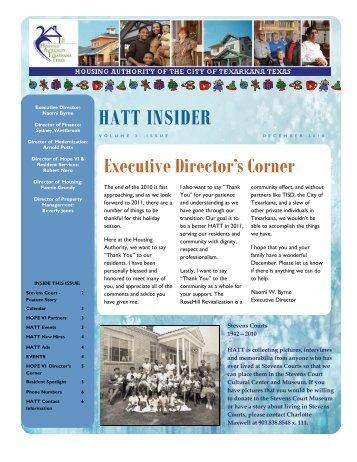 HATT INSIDER - Housing Authority of Texarkana Texas