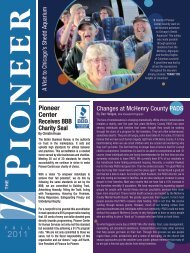 Fall 2011 Newsletter - Pioneer Center for Human Services