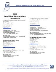 2010 Local Board/Association Leadership - Indiana Association of ...
