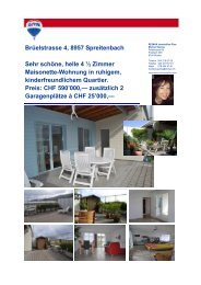 Doku-HAUS, Brüelstrasse 4 - Marisol Garcia Borkheim Immobilien