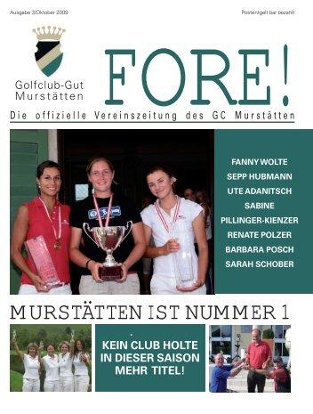 Fore Ausgabe Oktober 2009.pdf - Golfclub Gut Murstätten