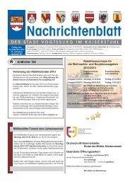 Nr. 50 vom 14. Dezember 2012 - Vogtsburg im Kaiserstuhl