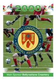 2008 Edition - County Londonderry Football Association