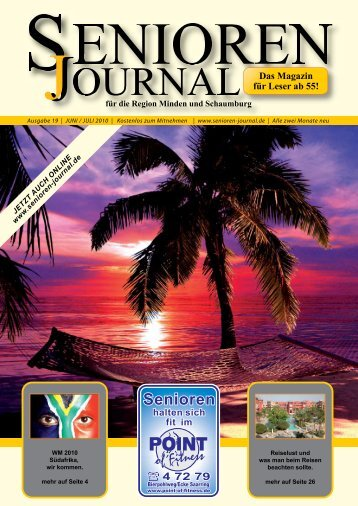 Ausgabe 19 - Juni / Juli 2010 - Senioren Journal