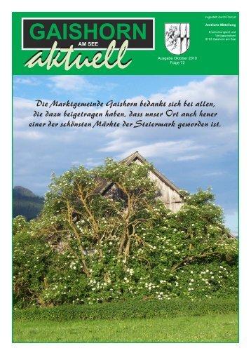 Gemeindezeitung Oktober 2010 - Gaishorn am See