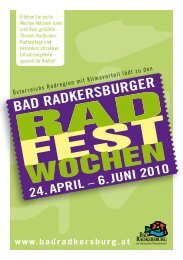 24. APRIL 2010 - Vitalhotel Bad Radkersburg