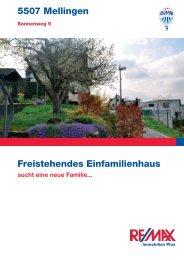 5507 Mellingen Freistehendes Einfamilienhaus - Marisol Garcia ...