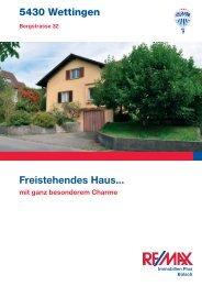 5430 Wettingen Freistehendes Haus... - Marisol Garcia Borkheim ...