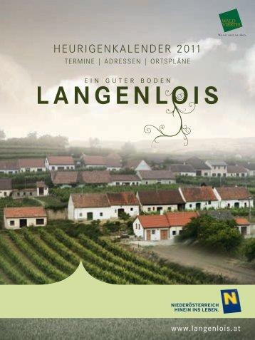 HEURIGENKALENDER 2011 - Ursin Haus