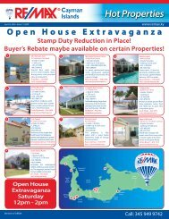 Hot Properties - Issue 7 (Apr 3rd 2009) - RE/MAX Cayman Islands